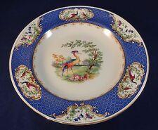 """Fino a 3 VINTAGE Lawleys Norfolk Pottery BLU ESOTICO Bird 10"""" zuppiere Piastre"""