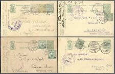 LUXEMBOURG: 18 CENSORED WWI Postal Stationery Cards; Various Markings + Uprated