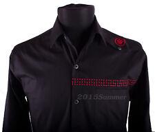 BNWT VERSACE Sz M Mens Shirt, Long Sleeve, Button-down, 100% Cotton