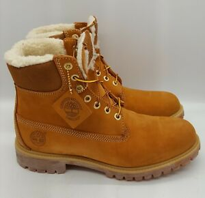 TIMBERLAND 6 INCH FUR LINED WHEAT 18027 MEN SIZE 8 - 13