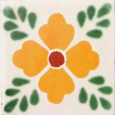 C#038) MEXICAN TILES CERAMIC HAND MADE SPANISH INFLUENCE TALAVERA MOSAIC ART