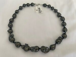 Tahitian Black Pearl Necklace With Sterling Silver clasp