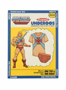 Underoos Mens Masters of the Universe He-Man Underwear T Shirt & Brief New S-2XL