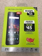 "Straight Talk ZTE MAX DUO 4G LTE CDMA Prepaid 16GB Cell Phone w/ BIG 6"" Screen"