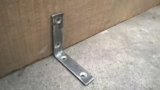 Industrial metal Shelf Brackets - Handmade at The Iron Mill UK - 1x Pair 10x10cm