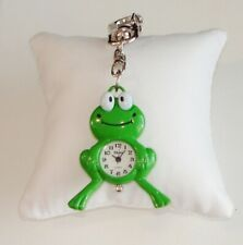FROG~ SILVER TONE KEY~CHAIN~WATCH ~GREEN~NEW