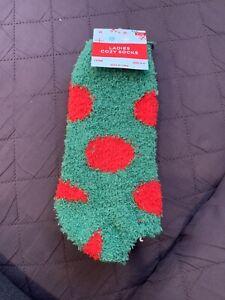 2 Pair- Ladies Cozy Fuzzy Ankle Socks ~ Size 9-11 Soft Warm Fuzzy ( Lot Of 2 )