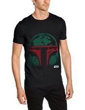 Star Wars Men's Boba Head Short Sleeve T-shirt Black Small