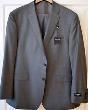 NWT Ralph Lauren Mens 3 Pcs Suit 50R 45W Slim Fit Grey 100% Wool
