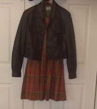 New ADLER Sz M Lambskin Leather Dark Brown Women's Bomber/Moto Chic Style Jacket