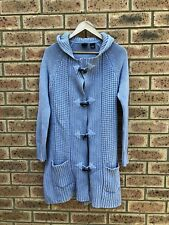 LEVIS ladies get size S small cable knit mid length cardigan cardy boho