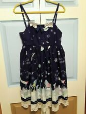 Women's Sweet Lolita Dress Jumperskirt Winter Toys Navy XL