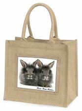 Silver Rabbits 'Love You Mum' Large Natural Jute Shopping Bag Christ, AR-3lymBLN