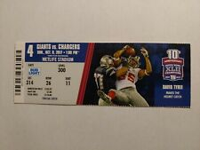 10/8/2017 Los Angeles Chargers at New York Giants Ticket Stub Philip Rivers 3 TD
