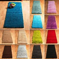 Soft Plain Thick 5cm Modern Hallway Runners Shaggy Rug Small Size Clearance