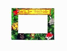 """Lot of 24 Pieces - """"Wild Thing"""" Jungle Themed Card Picture Frames with Easel"""