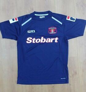 Carlisle United Training Shirt Jersey Fila Mens Medium blue excellent