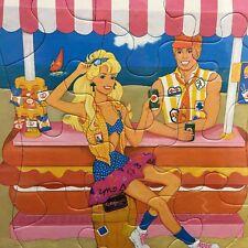 Barbie Frame Tray Puzzle 1989 Barbie Ken Beach Western Publishing #4514A-36 NEW