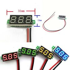 Durable Mini Digital Voltmeter Car Motor DC2.5-30V 2Wire LED Green Voltage Panel