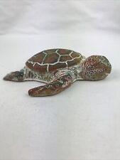 Turtle Figurine- Clay & Sand Creation 5.5�L