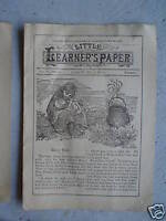 May 20 1894 Booklet Little Learner's Paper Childrens Stories