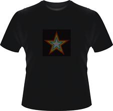Sonido activado intermitente Estrella Luz Led T Shirt Xxl Hen party Stag Fancy