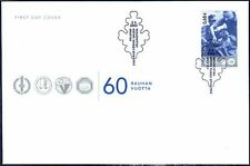 Soldiers World War Veterans Foil Stamp Finland FDC 2005