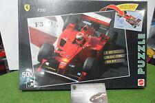 PUZZLE 500 Pièces double face FERRARI F300 Formule 1 F1 # 4  MATTEL 53598