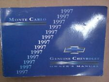 1997 MONTE CARLO GOOD USED OEM OWNERS OWNER'S MANUAL