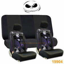 NIGHTMARE BEFORE CHRISTMAS JACK FRONT SEAT COVERS & BLACK BENCH 6PC FOR NISSAN
