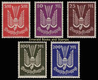 EBS Germany 1923 Airmail Flugpost Wood Dove (III) set Michel 263-267 MNH**