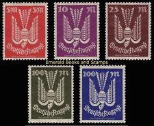 EBS Germany 1923 Airmail Flugpost Wood Dove (III) set Michel 263-267 MNH**