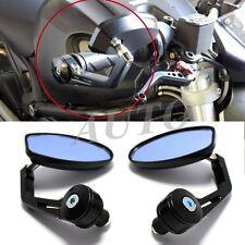 "Universal Motorcycle Motor Bikes 7/8"" Handle Bar End Rearview Mirrors Bolt-Black"