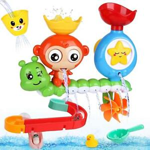14 Pcs Waterfall Bath Toys, for Babies 18 Months for Bathtub Swimming Pool Game