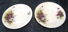 More details for 2x beautiful bone china saucers with slightly different floral patterns 5¼ ins