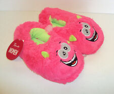 Ladies Girls Novelty Cosy Slippers Monster Pink Purple Yellow Size 2-3, 4-5, 6-7