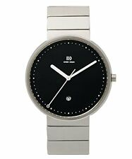 Danish Design IQ63Q723 40mm Black Dial Stainless Steel Quartz Classic Mens Watch