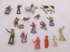 Vintage Metal and Plastic Mold Toy Figures Military Cowboy & Indian Tarzan Cow