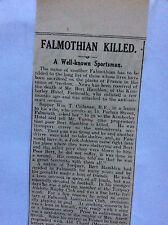 c7-2 ephemera 1915 ww1 article falmouth bert hamblen diver hit by shell