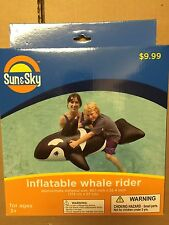 2x WHALE RIDER - Quantity 2 - Inflatable Pool Float Raft - Ride On Pool Toy