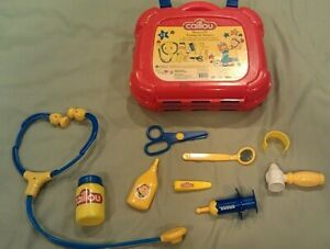 VERY RARE Caillou Medical Kit Toy Play Imagination Doctor