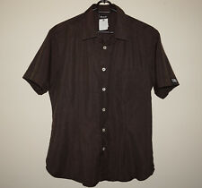 DOLCE & GABBANA D&G WOMEN'S SHIRT BROWN SIZE 36 50 XL AUTHENTIC