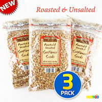 NEW Trader Joe's Nuts Sunflower Seeds Roasted & Unsalted 16oz/1lb Bag - 3 Pack