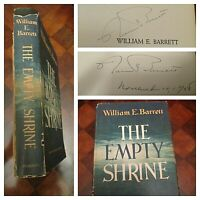 SIGNED The Empty Shrine- William E. Barrett 1958 HCDJ 1st Edition Autograph RARE