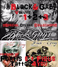 Tattoovorlagen Black and Grey Flashbook  1+2+3 Cd  Dvd Top NEU Flash Buch