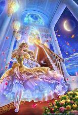 Princesse sur escaliers Mosaïque Diamant Peinture Kit 30 x 40 cm-Cross stitch