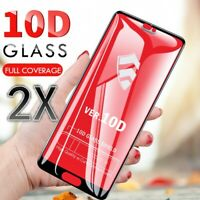 2X 10D Full Coverage Tempered Glass Screen Protector For iPhone X XS Max XR 8 8+