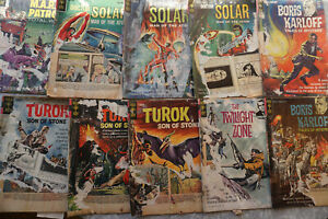 Gold Key 60's Comic Lot. Solar Turok Boris Karloff WORN! FREE SHIPPING!