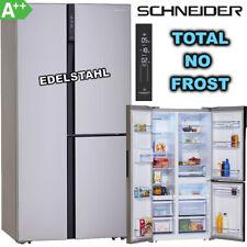 Schneider Kühl Gefrierkombination Side by Side A++ NoFrost Kühlschrank Edelstahl