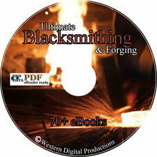 Blacksmithing Metallurgy Metal Working 70 Books Forging Smithing Iron Art Tool